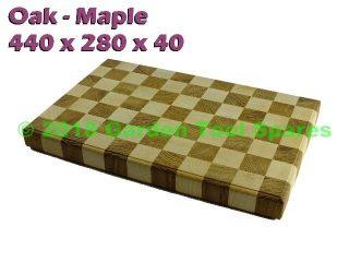 OAK & MAPLE KITCHEN CUTTING CHOPPING BOARD BUTCHER BLOCK HANDMADE 440x280x40