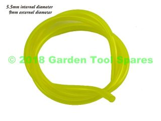 1M YELLOW FUEL PIPE 5.5MM ID / 9.0MM OD TO FIT VARIOUS STRIMMER HEDGE TRIMMER CHAINSAW