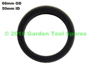 AIR FILTER FOAM 50MM ID / 66MM OD 15MM THICK.